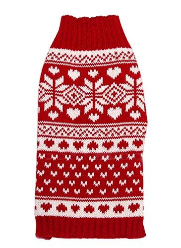 Nuovo Autunno Inverno Animale domestico Cane Teddy Barboncino Fiocco di neve Banda Acrilico addensare Caldo Maglione Due gambe Suits 4 taglie (M)