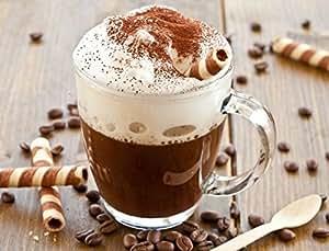 Set of 2 Glass Coffee / Tea Mugs 340 ml Angelo Jumbo