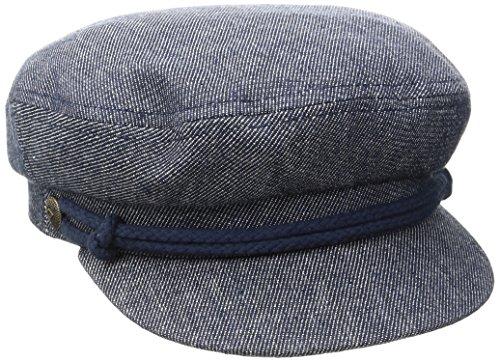 Brixton Herren Fiddler Cap, Denim/Dark Navy, M