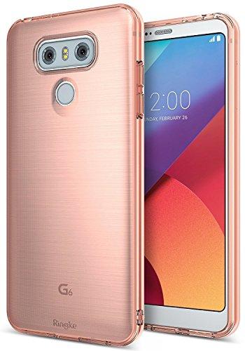 Ringke LG G6 Hülle, AIR Leicht wie Luft (Extremes Leichtgewicht) Ultra dünne transparente, weiche, Flexible TPU Kratz-resistente Hülle für LG G6 - Rosengold -