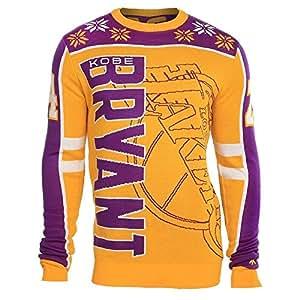 Sweat shirt à encolure au ras du cou Los Angeles Lakers NBA Kobe Bryant #24Ugly Sweater s