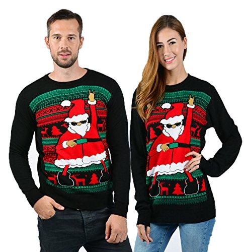 Dance Team-t-shirts (Uideazone Teens Christmas Dance Weihnachtsmann lustig Pullover lustige Jumper Hemden M)