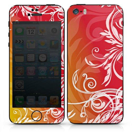 Apple iPhone 5 Case Skin Sticker aus Vinyl-Folie Aufkleber Blumen Blumenranken Ornamente DesignSkins® glänzend