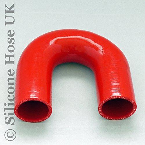 180 degrés en silicone Turbo et liquide de refroidissement Flexible renforcé Coude ID : 45 mm - Rouge