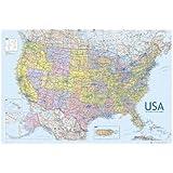 États-Unis d'Amérique, grande Carte murale USA Poster éducatif 61 Par 91,5 cm