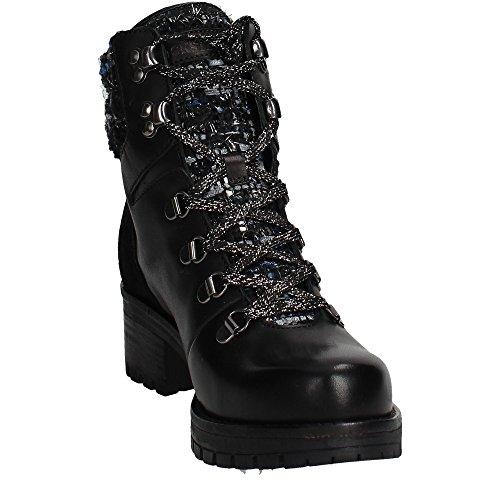 Docksteps DSE103163 Boots Femme Cuir Noir Noir