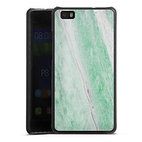 DeinDesign Huawei P8 lite (2015-2016) Lederhülle schwarz Leder Case Leder Handyhülle Marble Trend frühling