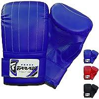 Boxeo saco boxeo guantes mma Guantes guante guantes de entrenamiento (Blue, L)