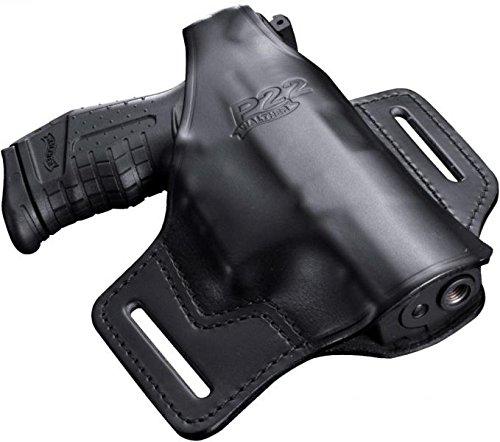 telholster Leder P 22 schwarz, M ()