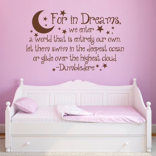 For In Dreams Wall Decal - Dumbledore Quotes Vinyl Wall Art Decal Stickers For Nursery?Small,Black? by WallsUp
