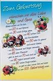 Lustige Geburtstagskarte mit Spruch, geprägt, mit Couvert, Motiv 7