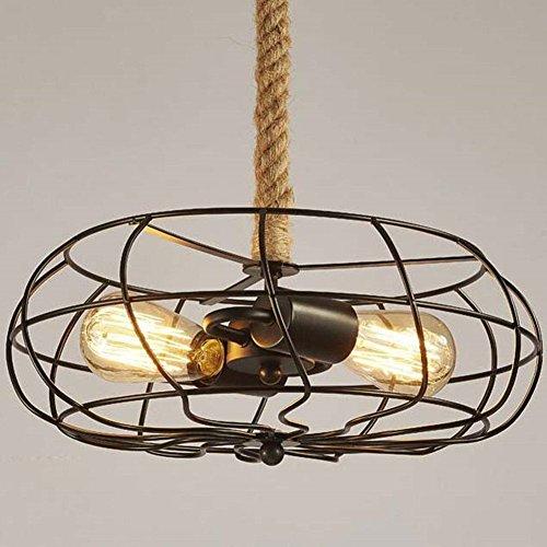 Ventilador industrial estilo de luz de techo, SUN RUN Creative retro alambre...