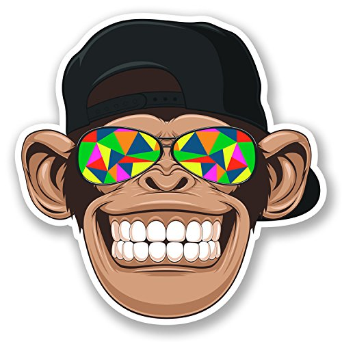 2-x-10cm-monkey-cap-vinyl-decal-stickers-skate-surf-board-kids-laptop-hat-5613