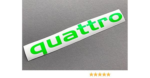 Quattro Neon GrÜn Auto Aufkleber Autoaufkleber Sticker Tuning Shocker Decal Auto