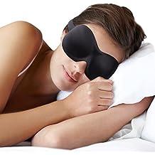 Kelana Schlafmaske Damen und Herren. Premium Schlafbrille mit innovativ gewölbter Form für komplette Dunkelheit und freies Bewegen der Augen. Inklusive Ohrstöpsel & Aufbewahrungsbeutel