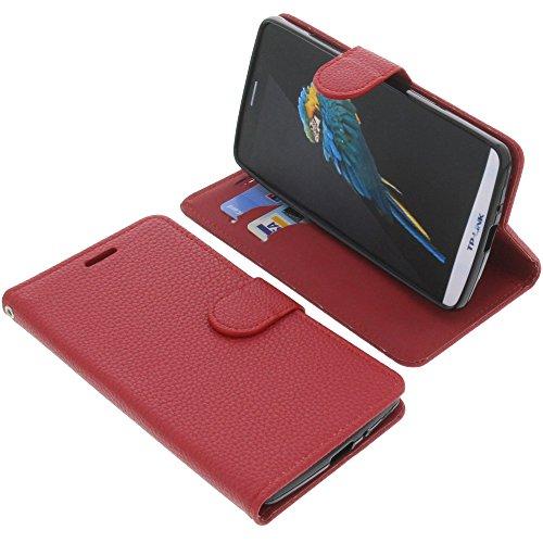 foto-kontor Tasche für TP-Link Neffos C5 Max Book Style rot Schutz Hülle Buch