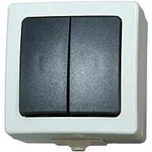 2er-Set Kontrollschalter Feuchtraum Lichtschalter Serienschalter mit Licht