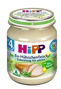 Hipp Bio-Hühnchenfleisch - Zubereitung, 6-er Pack (6 x 125 g) - Bio