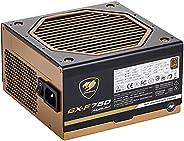 وحدة تزويد الطاقة GX-F/80 plus من كوغار، لون ذهبي / نموذجية بشكل كامل / 750 واط