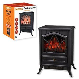 Benross Cast Iron Effect Fire Electric Stove, 1800 Watt_P