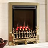 Flavel Natural Gas Fire - Inset Windsor HE - Traditional - Manual - Brass