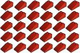 LEGO City - 30 rote Dachsteine / Schrägsteine / Dachziegel / Dachpfannen 33° 3x2 Noppen 3298