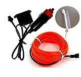 2meter Rot Ambientebeleuchtung EL Lichtleisten Neon Innenraumbeleuchtung Lichtschnur mit Zigarettenanzünder Stecker Ambiente