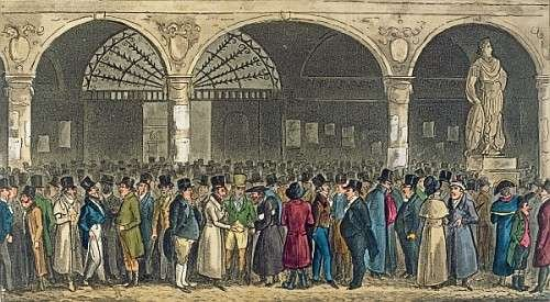 quadro-con-cornice-isaac-robert-cruikshank-tom-jerry-visiting-the-stock-exchange-from-life-in-london