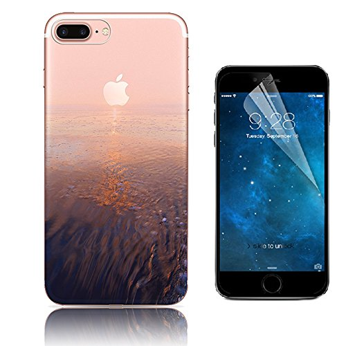 Case iPhone 7 Plus, Bonice Cover iPhone 7 Plus [Cover Silicone Gel] ** Trasparente TPU** [Paesaggio Scenario ] Forma Morbido, Custodia iPhone 7 Plus, Custodia iPhone 7 Plus + 1x Protezione Dello Scher model 24
