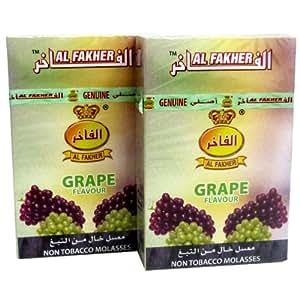 Al Fakher Kit d'herbe parfumée pour narguilé Raisin 100 g