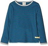 loud + proud Jungen Langarmshirt Shirt Ringel, Blau (Midnight Mi), 134/140 (Herstellergröße: 134/140)