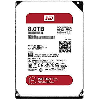 Western Digital Red Pro 8000GB Serial ATA III - Disco Duro (5-60 °C, -40-70 °C, Serial ATA III, Unidad de Disco Duro) (B01H33VQDG) | Amazon price tracker / tracking, Amazon price history charts, Amazon price watches, Amazon price drop alerts