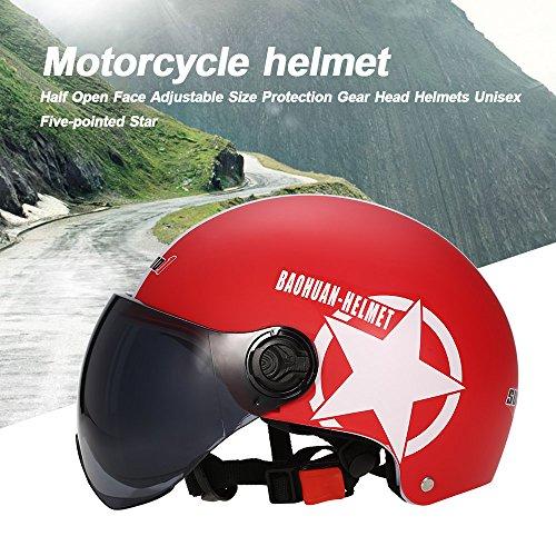 Kkmoon Casco motocicleta motorcycle Open Face Half