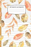 Half Graph Half Lined Composition: Autumn Leaf Cover Composition Notebook Half Graph 4x4 Half Lined Paper Notebook on same page Diary Practice Journal Organizer.