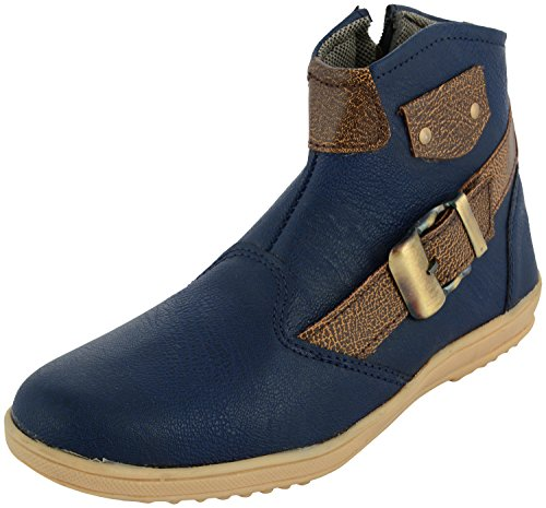 Auserio Men's Blue Boots - 7 UK/India (41 EU)(SS- 351)  available at amazon for Rs.249