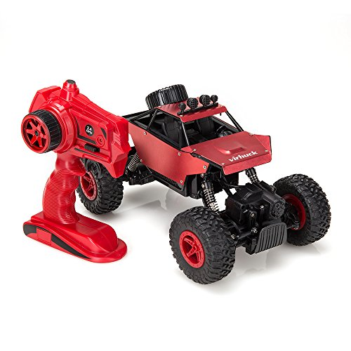 Virhuck 1139 (A) 1/18 Scale 4WD Rock Crawler con Carcasa Metálica 2.4GHz Vehículo Todoterreno RC Car 4MPH Regalos de Navidad presentes(Rojo)