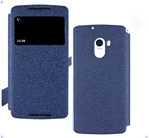 GoRogue Pudini Window PU Leather Slim Flip Case Cover with Convertible Back Stand For Lenovo K4 Note (Blue)  available at amazon for Rs.199