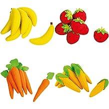 f/ür Kaufl/äden gelb /Ø 2 cm x 7,5 cm DEIN-WOHNSTIL Small Foot Design 4419 Filz-Bananen 7-teilig 1 Set