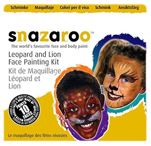 erdbeerloft - Kinder Erwachsene Leopard, Löwe Schmink Set, 3 x 2 ml, Braun (Löwe Kostüm Make Up)