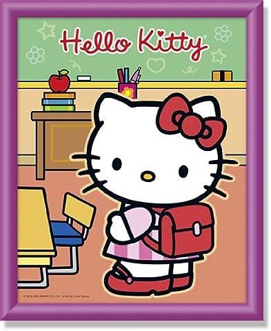 Schipper 609140461 - Malen nach Zahlen - Hello Kitty in der Schule, 20x25 cm