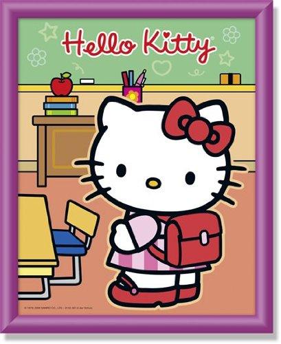 (Noris Schipper 609140461 - Malen nach Zahlen - Hello Kitty in der Schule, 20x25 cm)