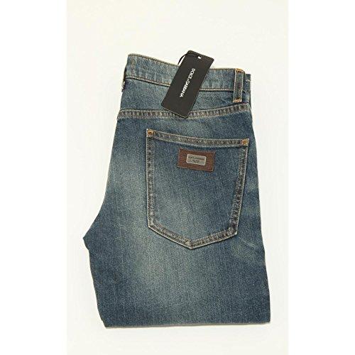3930G jeans uomo blu DOLCE&GABBANA D&G 14 GOLD pantaloni trousers men [44]