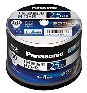 PANASONIC Blu-ray BD-R Recordable Disk | 25GB 4x Speed | 50 Spindle Pack Ink-jet Printable(japan import)