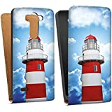 LG G3 S Tasche Schutz Hülle Walletcase Bookstyle Leuchtturm Himmel Wolken