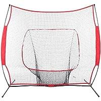 mymotto jaula filete de entrenamiento de béisbol–7x 7ft/5x 5ft béisbol sóftbol Practice filete con marco de arco, rojo