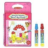 Rangebow mariposa princesa mágica agua reutilizable dibujo Doodle libro para las niñas y la pluma mágica para 3 años más (mariposa princesa GC00607)
