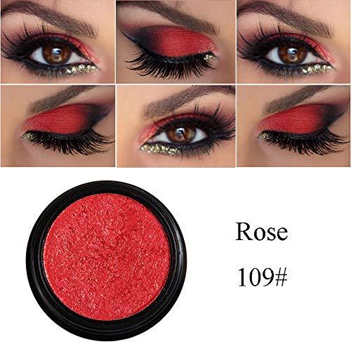 Cwemimifa Lidschatten Palette Unter 5 Euro Mit Pinsel,PHOERA Glitter Shimmering Colors Lidschatten Metallic Eye Cosmetic,Schwarz -