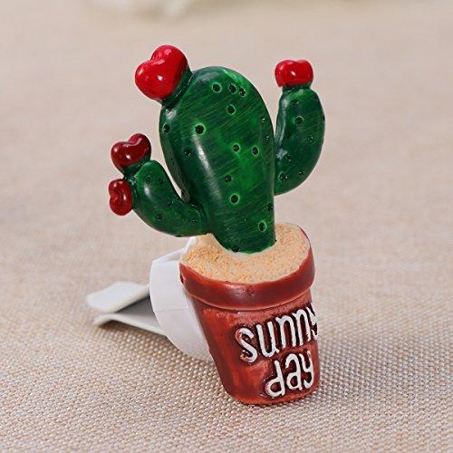 Clispeed Cute Car Deodorante Cactus Balsamo solido fragranza auto aria condizionata Vent profumo clip Auto Decorazione Ornamento