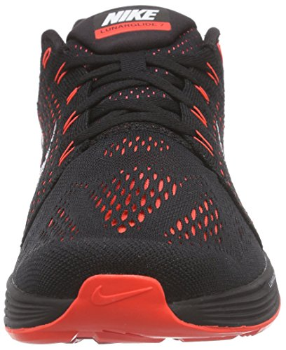 Nike LunarGlide 7, Chaussures de course homme Noir - Schwarz (Black/Summit White-Bright Crimson)
