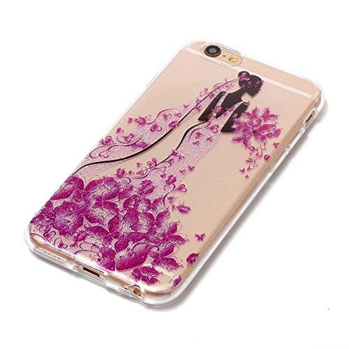 Ekakashop iPhone 6 Plus Hartplastik Hülle, Bemalt Pfingstrose Blume, Tiere, Paris Turm, Bear und Dreamcatcher Serie Muster Plastik Hardcase Tasche Schutzhülle Case für Apple iPhone 6 Plus/6s Plus 5.5  Prinzessin